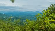Stock Video Footage of Panning Left to reveal a Scenic View of South Asheville, NC