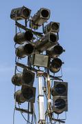 lighting equipment outdoors - stock photo