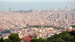 Pan shot of Barcelona cityscape HD Stock Footage