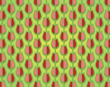 Stock Illustration of tulip pattern decorated in spring colors