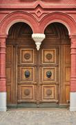 Old massive wooden door Stock Photos