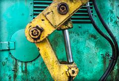 industrial hydraulic - stock photo