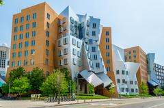 iconic postmodern architecture of mit strata center, cambridge, usa - stock photo