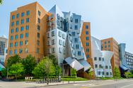Stock Photo of iconic postmodern architecture of mit strata center, cambridge, usa