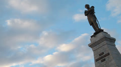 Monuments of the city of Khabarovsk Stock Footage