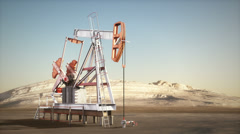 Working oil jack Stock Footage