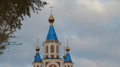 Church in the city of Khabarovsk Stock Footage