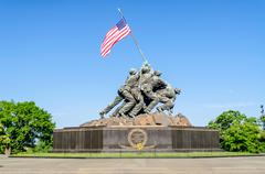 Marine corps war memorial (iwo jima memorial) Stock Photos