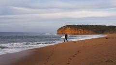 Bells beach surfer Stock Footage