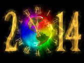 Stock Illustration of happy new year 2014 - pf 2014 - america