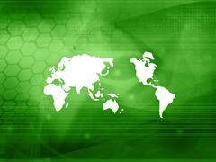 World map technology style.. Stock Photos