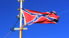 Confederate South Flag Stock Footage