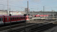 Munich Regional Trains Stock Footage