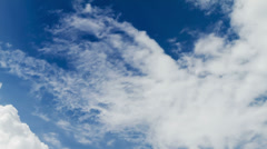 Clouds on blue sky time lapse Stock Footage