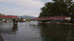 Swing Bridge in Amanohashidate Time Lapse - stock footage