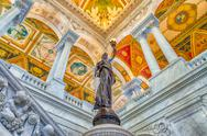 Stock Photo of library of congress main hall washington dc