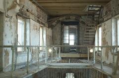 dirty prison - stock photo