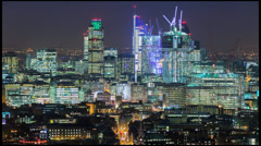 Time-lapse of Central London at night - stock footage