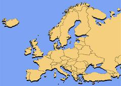 map europe - stock illustration