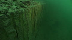 Underwater  cliff in quarry Stock Footage