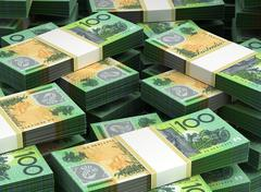 stack of australian dollar - stock illustration