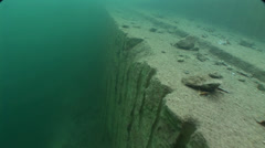 Underwater quarry in fresh water Stock Footage