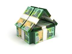 Stock Illustration of real estate concept australian dollar