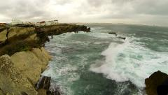 Ocean waves and cliffs Stock Footage