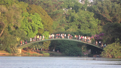 Ibirapuera - Park of sao paulo city Stock Footage