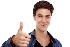 hopeful young man - stock photo