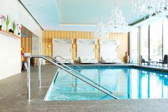 modern spa in the luxury hotel at ski resort, strbske pleso, slovakia - stock photo