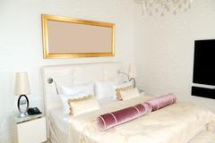 modern apartment in the luxury hotel at ski resort, strbske pleso, slovakia - stock photo
