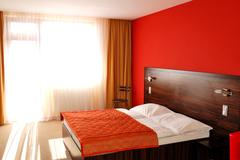 apartment in the luxury hotel, strbske pleso ski resort, high tatras, slovaki - stock photo