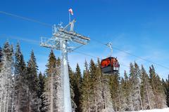 Cableway cabin at jasna low tatras ski resort, slovakia Stock Photos