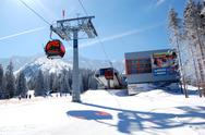 Stock Photo of jasna-march 15: cableway station in jasna low tatras. it is the largest ski r