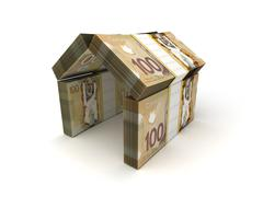Stock Illustration of real estate concept canadian dollar