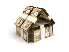 Real estate concept canadian dollar Stock Illustration