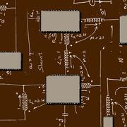 mathematical engineering background - stock photo