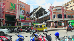 28.03.2013 - Phuket, Jungceyon. Main entrance. Stock Footage