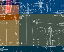 Mathematical engineering background Stock Photos