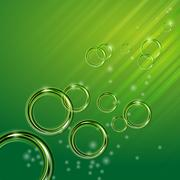Shiny circles - stock illustration