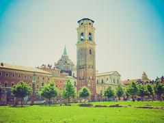 retro look turin cathedral - stock photo