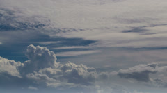 Fast moving clouds Stock Footage