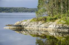 Landscape around bergen in norway Stock Photos