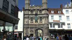 Christchurch Gate, Canterbury, Kent, UK. Stock Footage