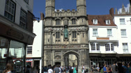 Stock Video Footage of Christchurch Gate, Canterbury, Kent, UK.