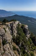 View from mountain ai petri near yalta Stock Photos