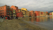 Stock Video Footage of Italy, Liguria, Sestri Levante.  The bay of silence