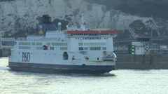 Pride of Kent ferry leaving Port of Dover, UK. Stock Footage