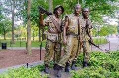 Stock Photo of vietnam veterans memorial statue, washington dc